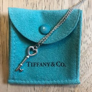 Tiffany & Co. Heart Key Pendant Necklace